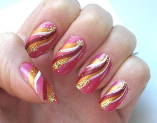 Акриловые краски: рисуем узоры на ногтях