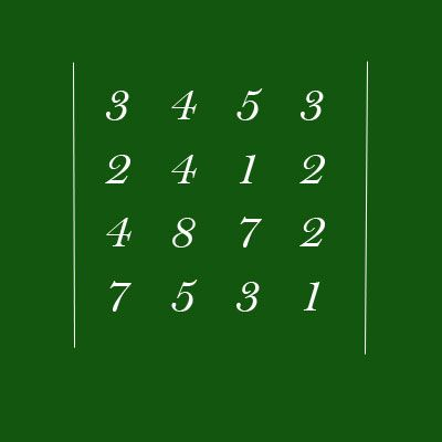 Как находить определитель матрицы