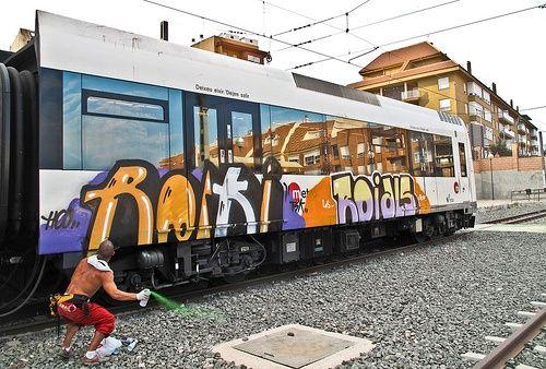 Как нарисовать граффити на стене