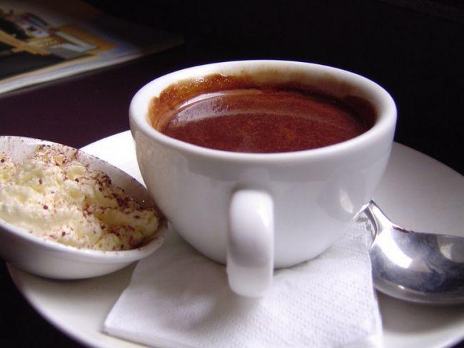 Как пить горячий шоколад