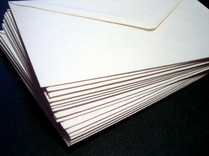 Как подписать почтовый конверт