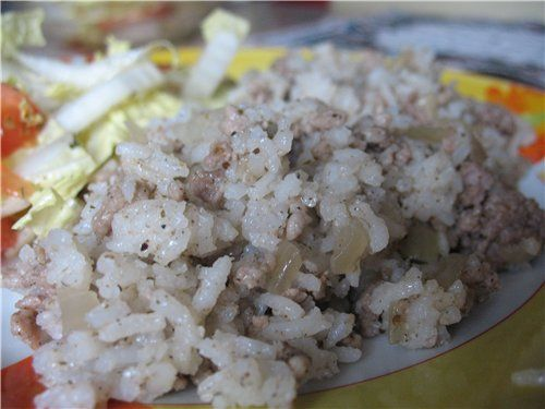 Как приготовить рис с фаршем