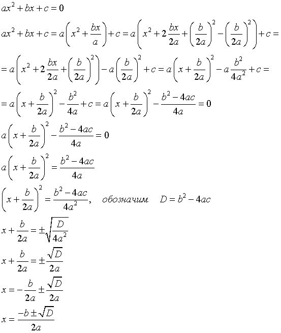 Как решать уравнения с дискриминантом