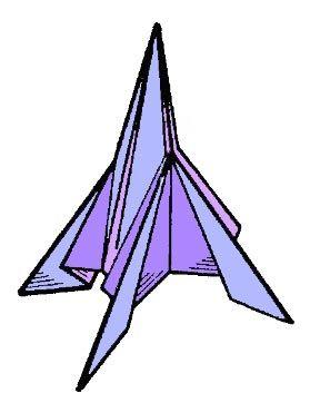 Готовая ракета из бумаги