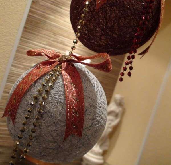 Как сделать новогодние шары
