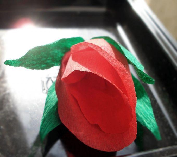 Так выглядит цветок без конфеты. ее уже съели