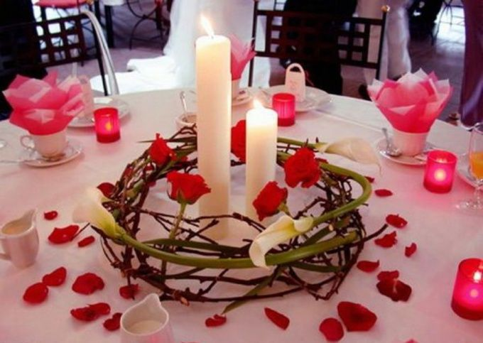Как украсить романтический ужин