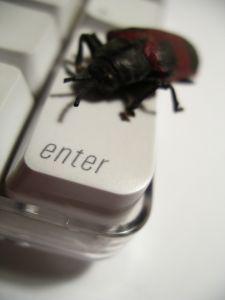 Вирусы вызывают баги системы (от английского bug - жук)