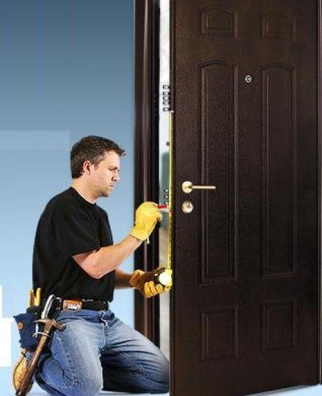 Как установить входную металлическую дверь