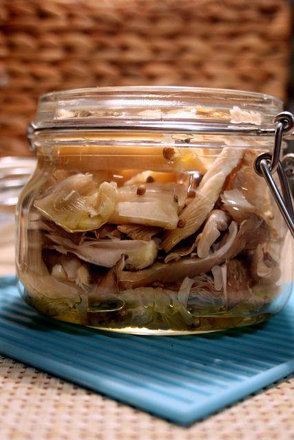 Соленые вешенки - очень вкусный зимний деликатес