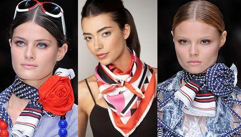Как завязать красиво платок и шарф