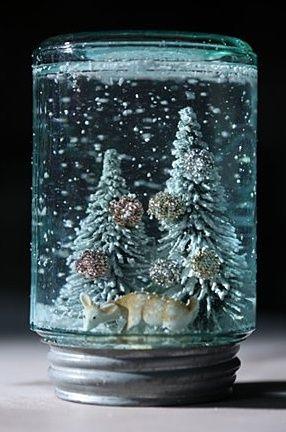 Снежный шар своими руками