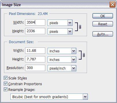 Как изменить размер изображения