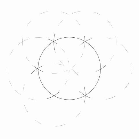 Как разделить окружность на 12 частей