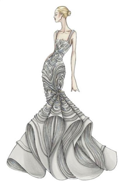 Как рисовать эскиз одежды