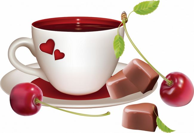 Вишневый чай из замороженной вишни