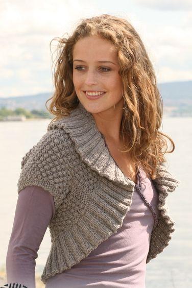 Вязаное болеро: как связать на спицах